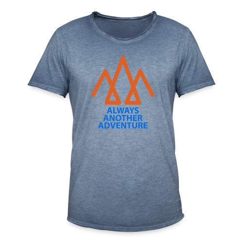 Orange logo, blue text - Men's Vintage T-Shirt