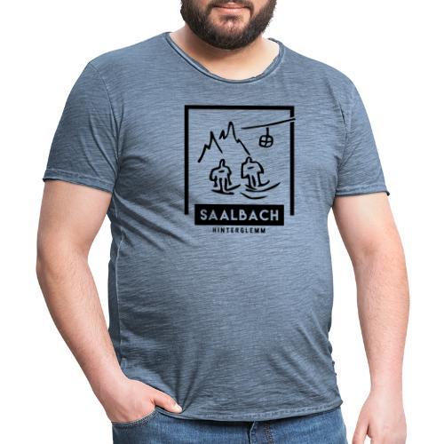 Skido's Saalbach - Mannen Vintage T-shirt