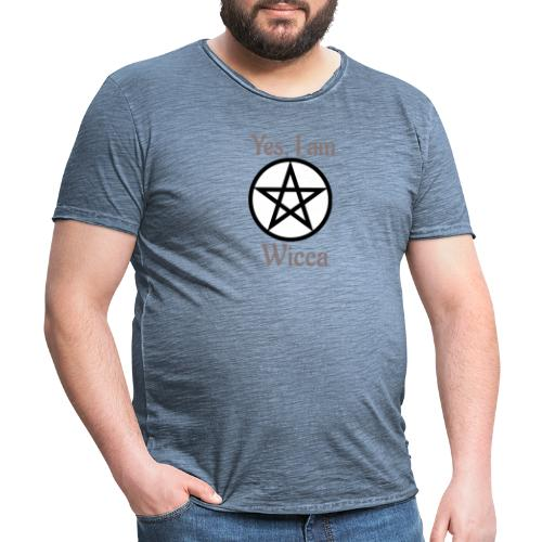 Si, soy wicca - Camiseta vintage hombre