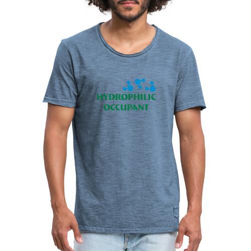 Hydrophilic Occupant (2 colour vector graphic) - Men's Vintage T-Shirt