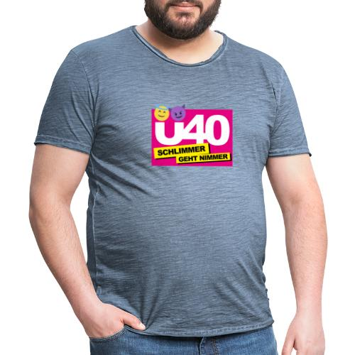 Ü 40 Schlimmer geht nimmer - Männer Vintage T-Shirt