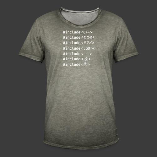 White Include List - Men's Vintage T-Shirt