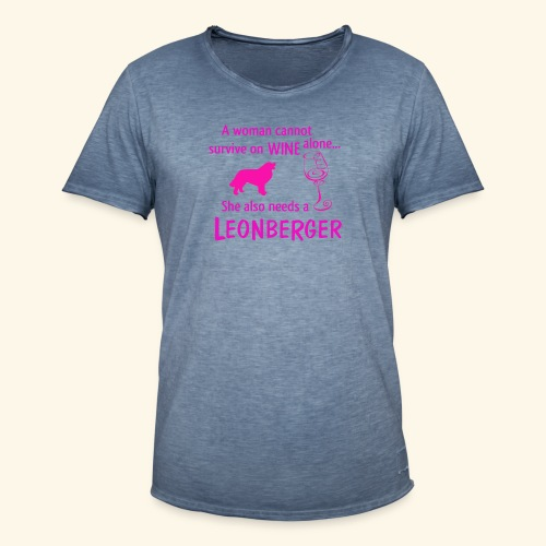 Wine&Leonberger - Vintage-T-shirt herr