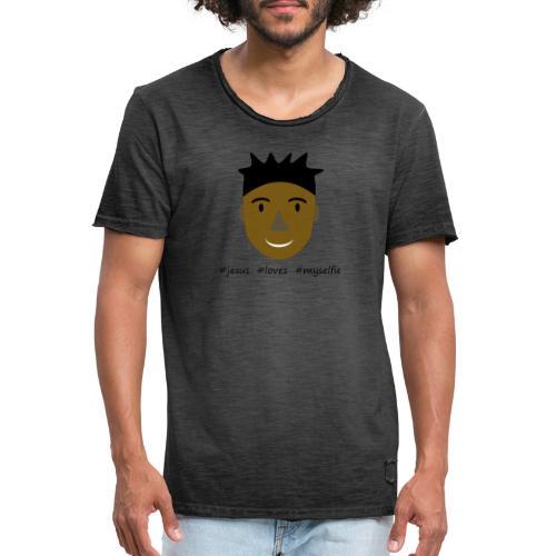 jesus loves myselfie - Männer Vintage T-Shirt