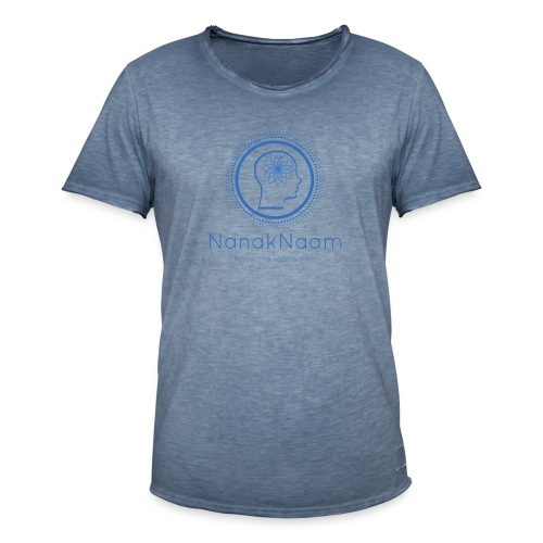 Nanak Naam Logo and Name - Blue - Men's Vintage T-Shirt