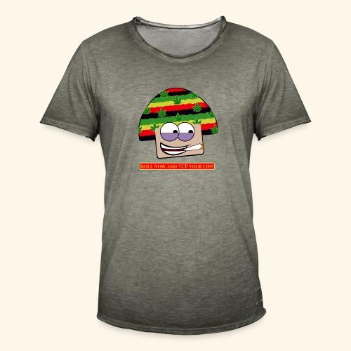 mushroom ganja-man - Maglietta vintage da uomo
