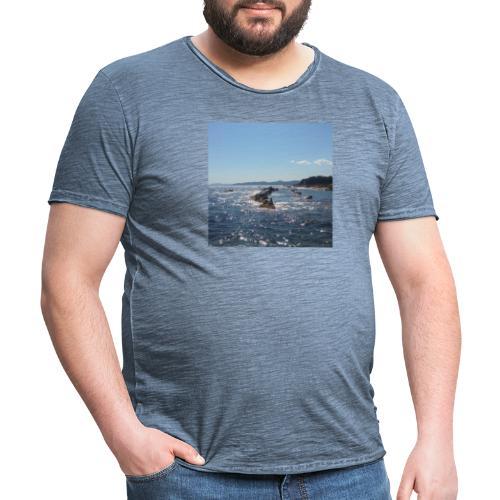 Mer avec roches - T-shirt vintage Homme