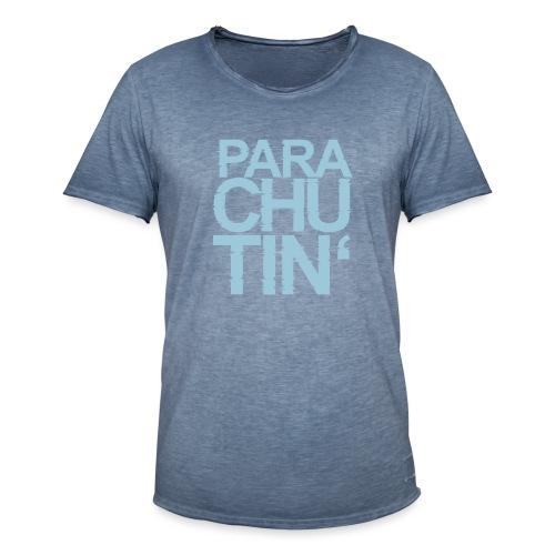Parachute Glitch v2 - Männer Vintage T-Shirt