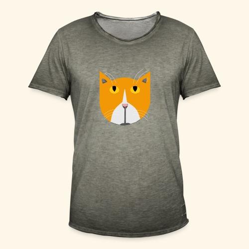 Hieno kissa - Miesten vintage t-paita
