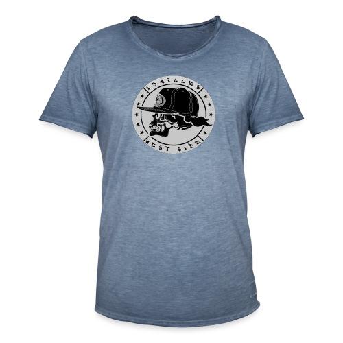 skull 13 milles noir et gris super design - T-shirt vintage Homme