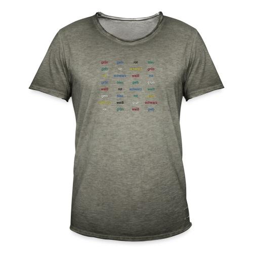 Stroop Effekt deutsch - Männer Vintage T-Shirt
