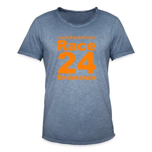 Race24 Logo in Orange - Men's Vintage T-Shirt