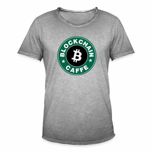 BlockChain Caffè Logo - Maglietta vintage da uomo