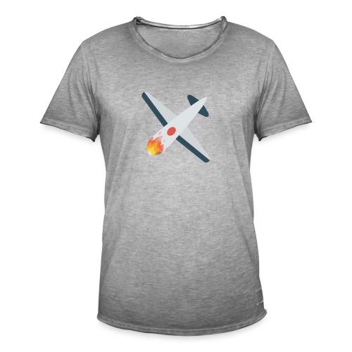 Falling Plane - Men's Vintage T-Shirt