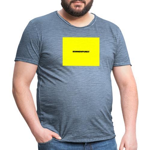 Sonnenpunkt schriftart - Männer Vintage T-Shirt