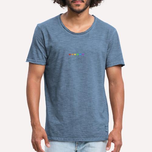 ColourFul Love Hearts Pride Symbol Print Design. - Men's Vintage T-Shirt