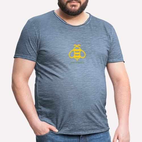 Bee Yourself Print Design. Stand Out Of The Crowd. - Men's Vintage T-Shirt