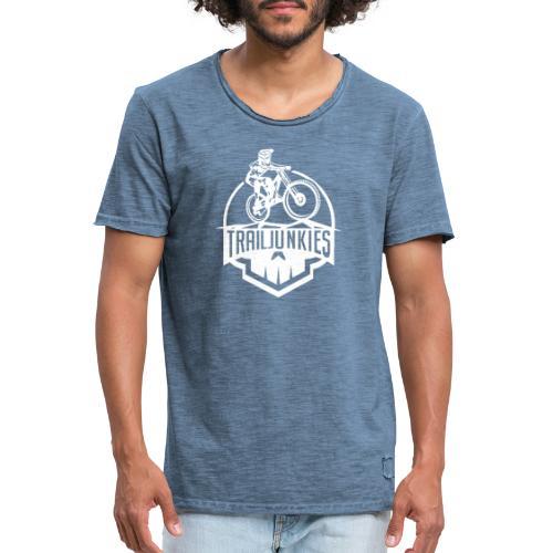Trailjunkies Skullhelmet - Männer Vintage T-Shirt