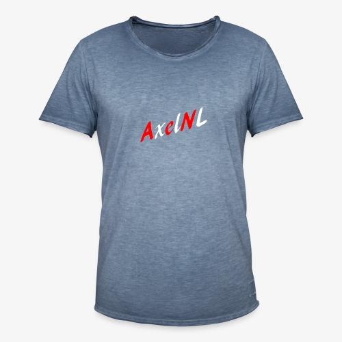 AxelNL - ROOD - Mannen Vintage T-shirt