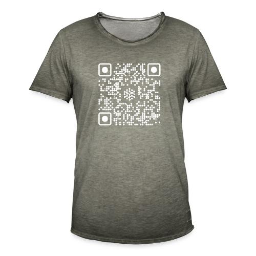 QR Safenetforum White - Men's Vintage T-Shirt