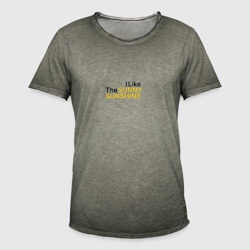 Sunny Sunshine... - Mannen Vintage T-shirt