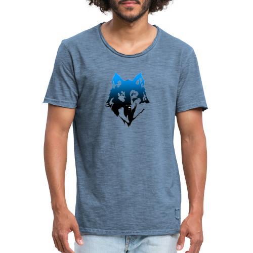 Hampan kläder wolf - Vintage-T-shirt herr