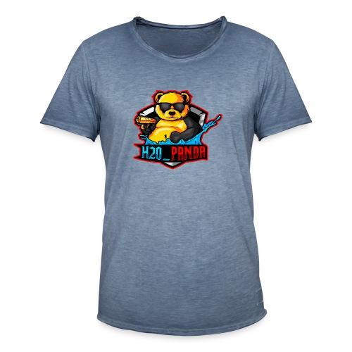 Pandas Loga - Vintage-T-shirt herr