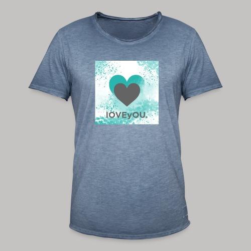love you - Männer Vintage T-Shirt