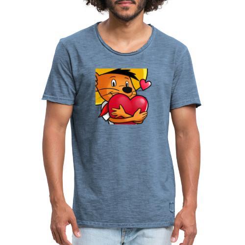 Love 3 copy - Herre vintage T-shirt