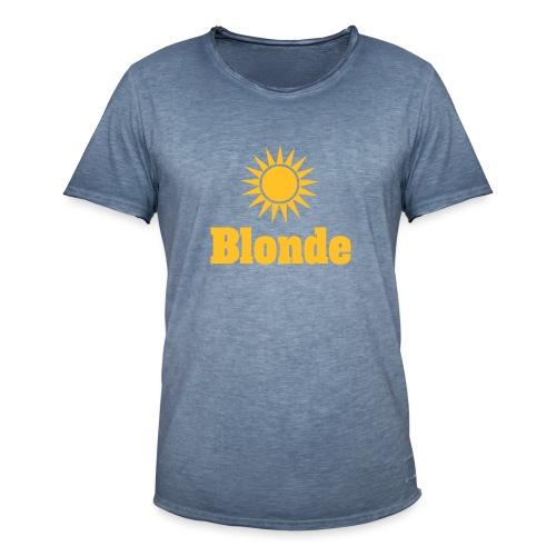 Blonde - Vintage-T-skjorte for menn