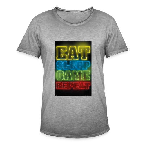 eat sleep game repeat - Mannen Vintage T-shirt