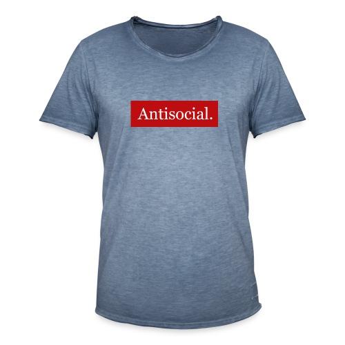 Antisocial. - Miesten vintage t-paita