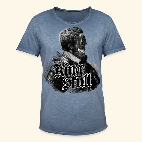 KiNg SkUll - Männer Vintage T-Shirt