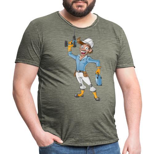 Handwerker Craftsman - Männer Vintage T-Shirt