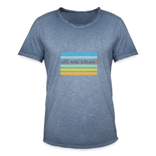 Colores y letras - Camiseta vintage hombre