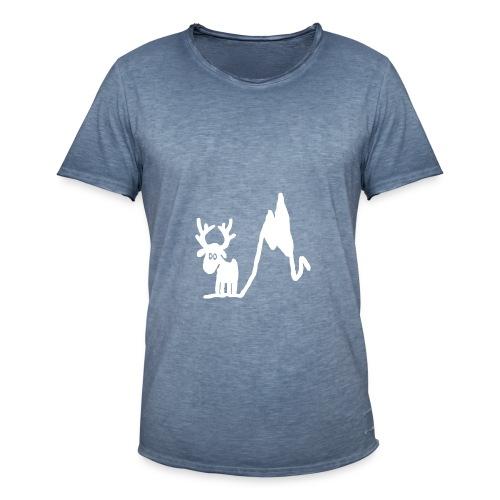 Renne blanc - Une blonde en Norvège - T-shirt vintage Homme