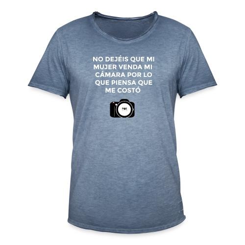 SI MUERO NO DEJEIS QUE MI MUJER VENDA MI CAMARA - Camiseta vintage hombre