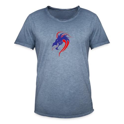 dragon en colère - T-shirt vintage Homme