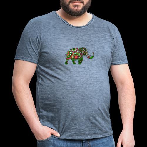 Colorful Elephant - Men's Vintage T-Shirt