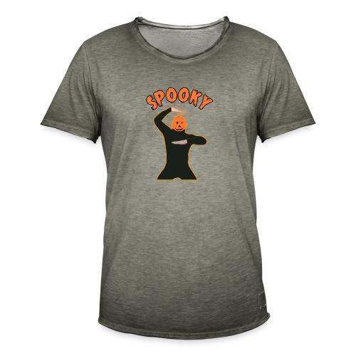 The Spooky Spooktober Pumpkin Dance Meme - Men's Vintage T-Shirt