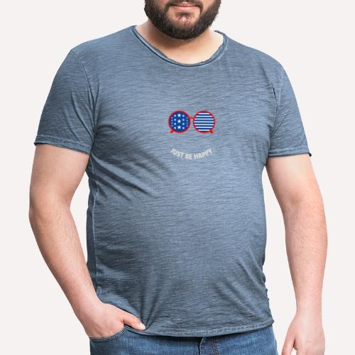 Be Happy, enjoy life and spread happiness - Men's Vintage T-Shirt