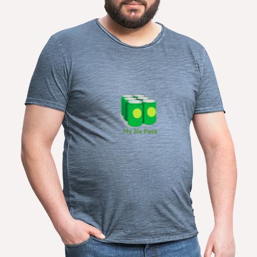 My Six Pack tshirt print - Men's Vintage T-Shirt