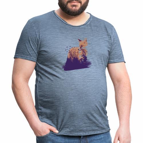 Fox forest - Männer Vintage T-Shirt
