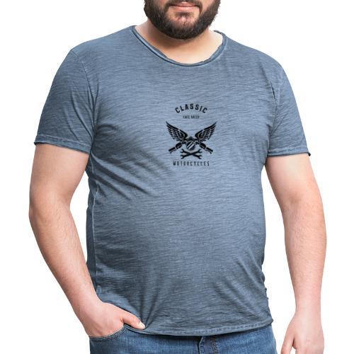 biker t shirt design template for motorcycle enthu - Herre vintage T-shirt