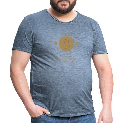 mystic looking zodiac t shirt design template 1426 - Herre vintage T-shirt