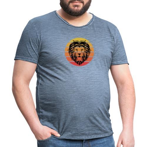 Lion Sundown - Männer Vintage T-Shirt