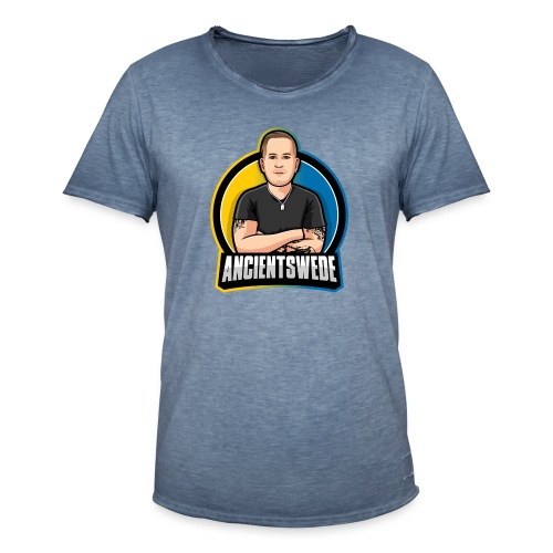 Stor Logga - Vintage-T-shirt herr