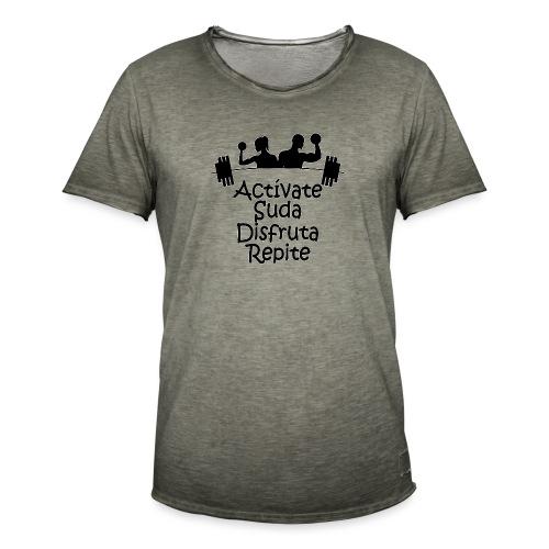 GYM - ACTÍVATE - Camiseta vintage hombre