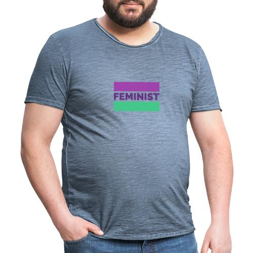 colorful t shirt maker with a feminist - Camiseta vintage hombre