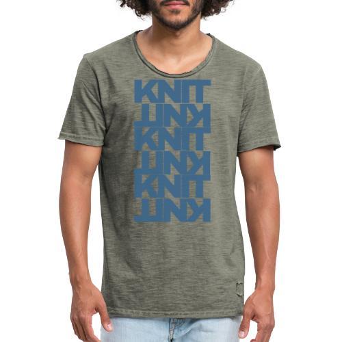 Garter Stitch, dark - Men's Vintage T-Shirt